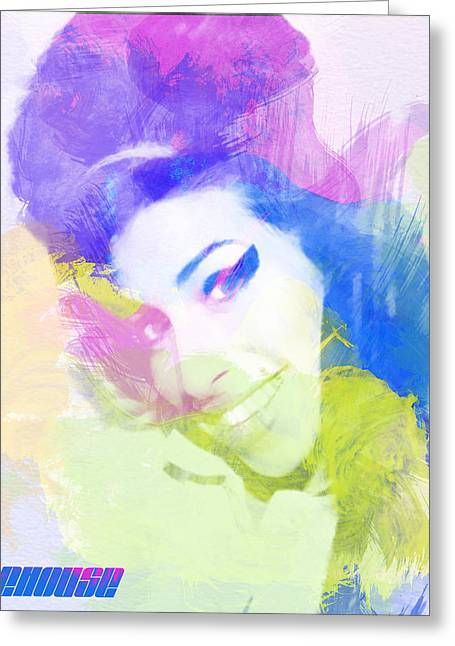 Amy Winehouse Greeting Card by Naxart Studio