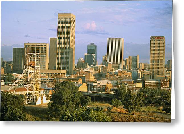 Johannesburg Greeting Cards - An Abandoned Mining Headframe Sits Greeting Card by Michael S. Lewis