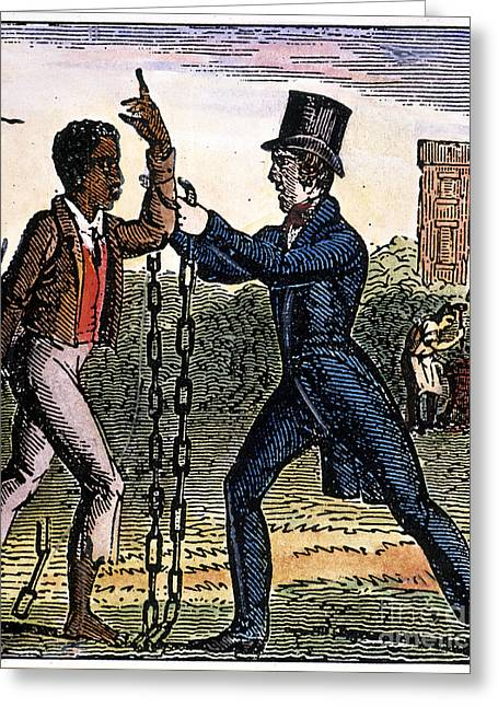 Abolition Greeting Cards - An Abolitionist Greeting Card by Granger