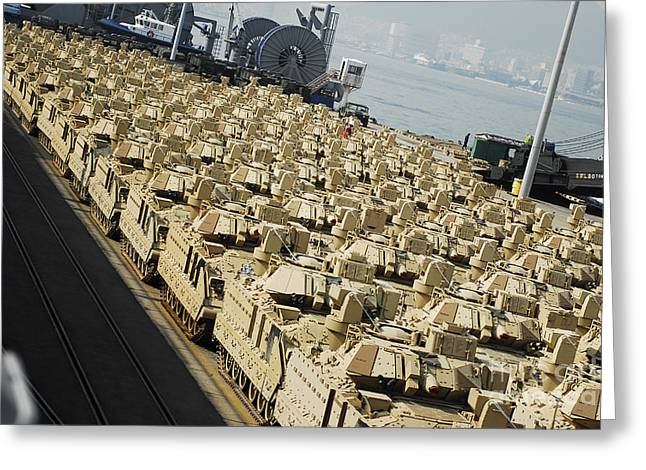Tank Battalions Greeting Cards - An Abundance Of Bradley Fighting Greeting Card by Stocktrek Images