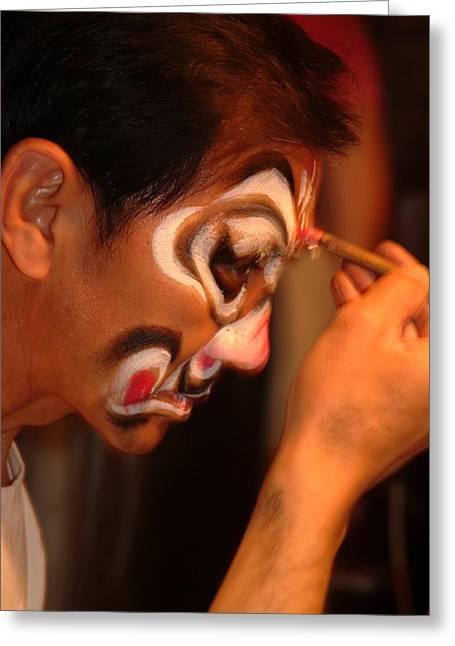 An Actor Gets Ready For An Opera Greeting Card by Richard Nowitz