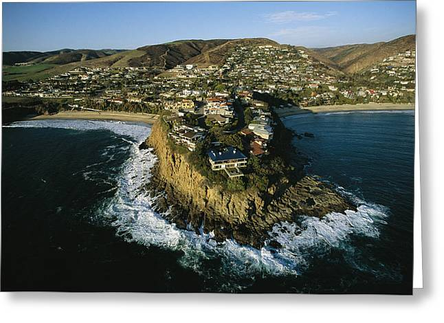 Cliffs And Water Greeting Cards - An Aerial View Of A Housing Development Greeting Card by Joel Sartore
