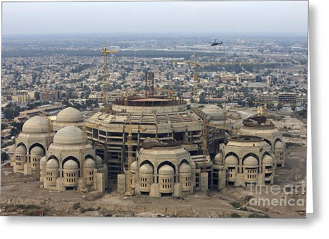 Hussein Greeting Cards - An Aerial View Of Saddam Hussiens Great Greeting Card by Terry Moore