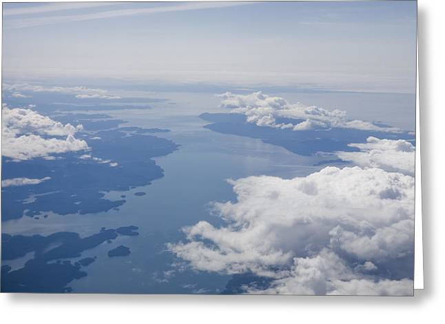 Inside Passage Greeting Cards - An Aerial View Of The Inside Passage Greeting Card by Taylor S. Kennedy
