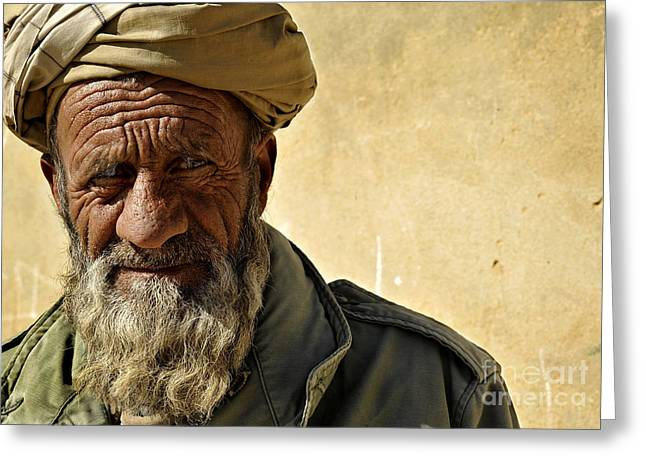 Zabul Greeting Cards - An Afghan Elder From Zabul Province Greeting Card by Stocktrek Images