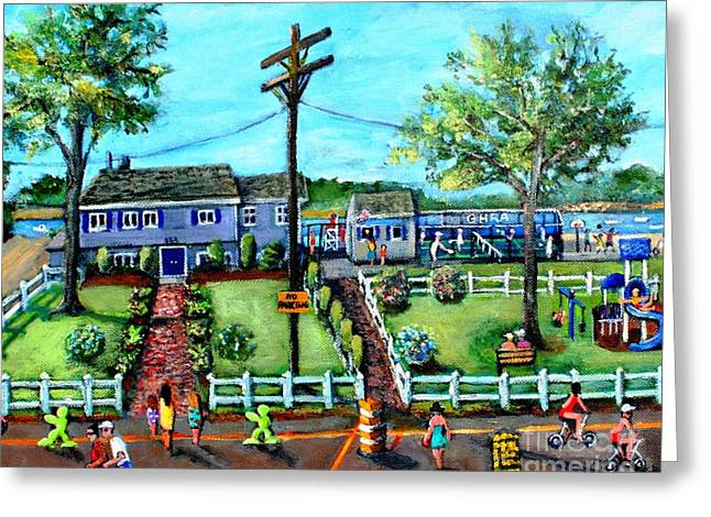 Shorewood Greeting Cards - An Afternoon Day in Great Harbors Greeting Card by Rita Brown