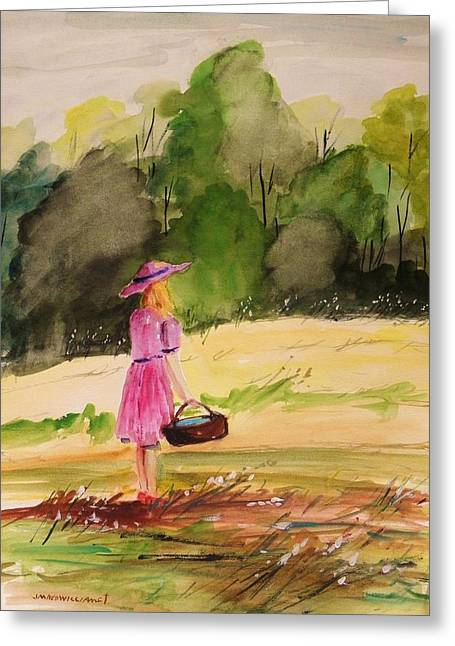 Afternoon Drawings Greeting Cards - An Afternoon Outing Greeting Card by John  Williams