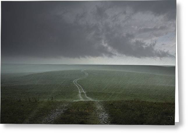 Preserved Greeting Cards - An Afternoon Thunderstorm Coming Greeting Card by Jim Richardson