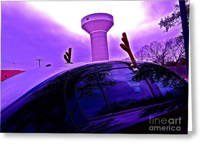 Watertower Greeting Cards - An Aggie Christmas Greeting Card by Chuck Taylor