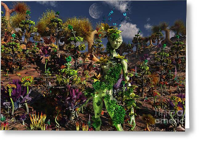 Slavery Digital Art Greeting Cards - An Alien Being Blending Greeting Card by Mark Stevenson