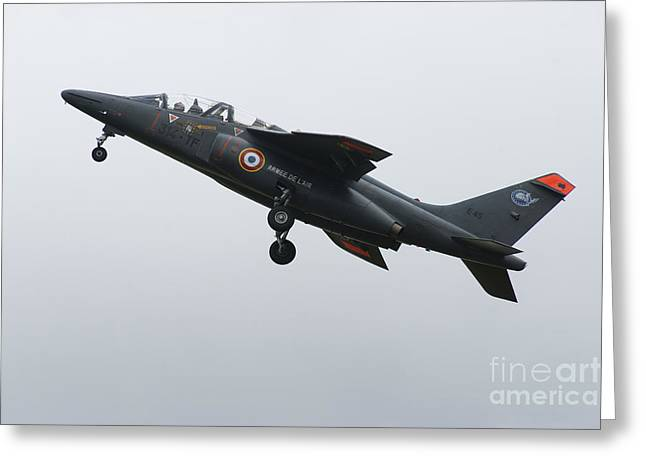 Space-plane Greeting Cards - An Alpha Jet Of The French Air Force Greeting Card by Ramon Van Opdorp