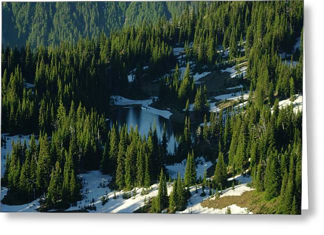 Pacific Crest Trail Greeting Cards - An Alpine Lake  Greeting Card by Jeff  Swan