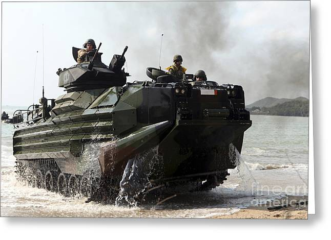 An Amphibious Assault Vehicle Hits Greeting Card by Stocktrek Images