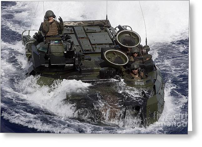 Harpers Ferry Greeting Cards - An Amphibious Assault Vehicle Greeting Card by Stocktrek Images