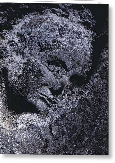 Herculaneum Greeting Cards - An Ancient Statues Image Is Preserved Greeting Card by O. Louis Mazzatenta