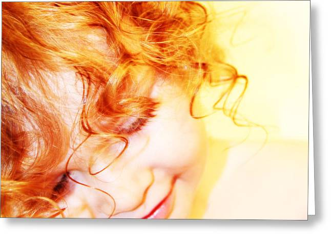 An Angels Smile Greeting Card by Kerri Ligatich