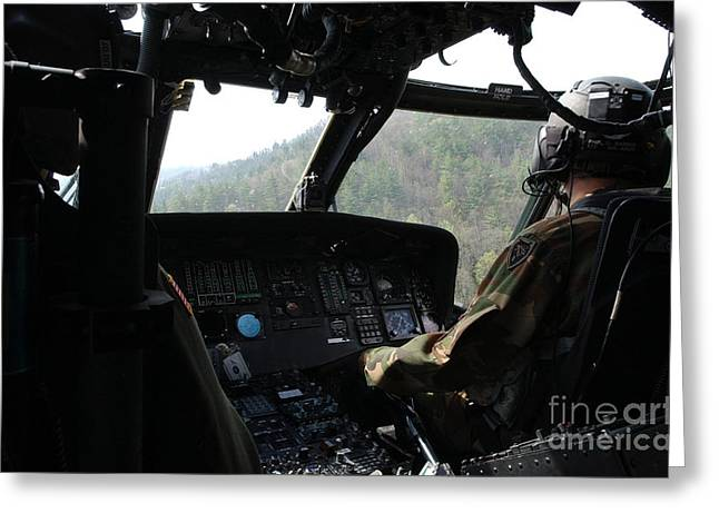 Inner Search Greeting Cards - An Army National Guard Uh-60 Black Hawk Greeting Card by Stocktrek Images