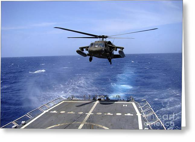 Utility Aircraft Greeting Cards - An Army Uh-60 Black Hawk Helicopter Greeting Card by Stocktrek Images