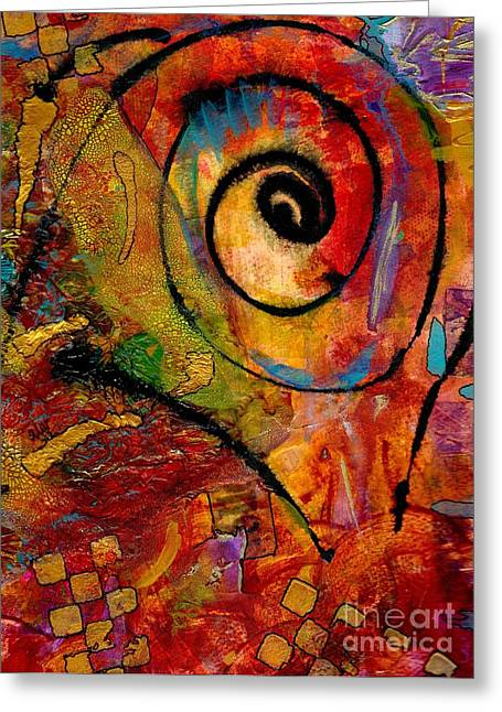 Main Street Mixed Media Greeting Cards - An Artist in Wonderland Greeting Card by Angela L Walker