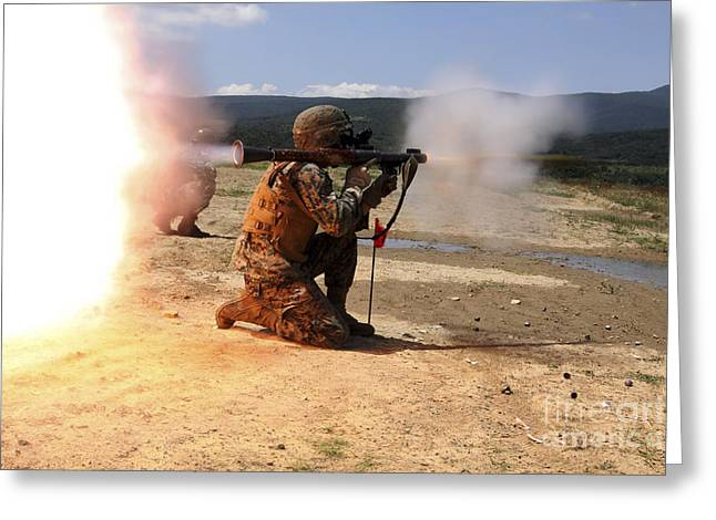 Shoulder-launched Greeting Cards - An Assaultman Fires A Rocket Propelled Greeting Card by Stocktrek Images