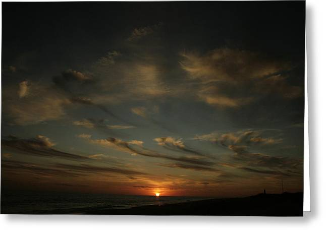 Long Island Photographs Greeting Cards - An Atlantic Sunset Greeting Card by Christopher Kirby