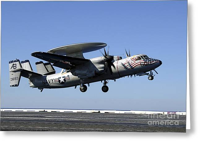 Ap Greeting Cards - An E-2c Hawkeye Conducts A Touch-and-go Greeting Card by Stocktrek Images