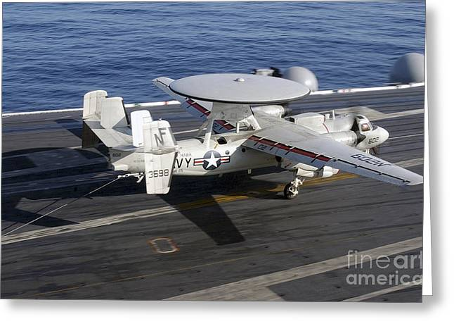 Ap Greeting Cards - An E-2c Hawkeye Makes A Successful Greeting Card by Stocktrek Images