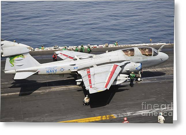 An Ea-6b Prowler Is Ready To Go Greeting Card by Giovanni Colla