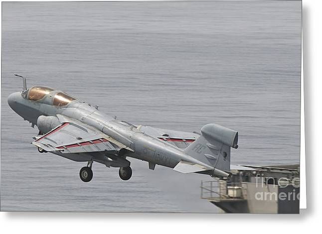 An Ea-6b Prowler Lifts Greeting Card by Giovanni Colla