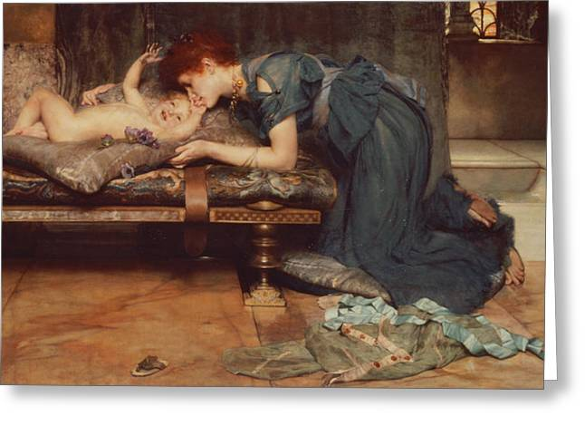 Maternal Greeting Cards - An Earthly Paradise Greeting Card by Sir Lawrence Alma-Tadema