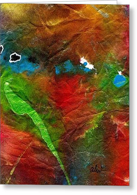 Survivor Art Greeting Cards - An Earthy Feeling Greeting Card by Angela L Walker