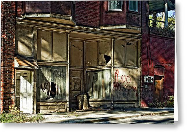 No Trespassing Greeting Cards - An Economic Tale Greeting Card by Steve Harrington