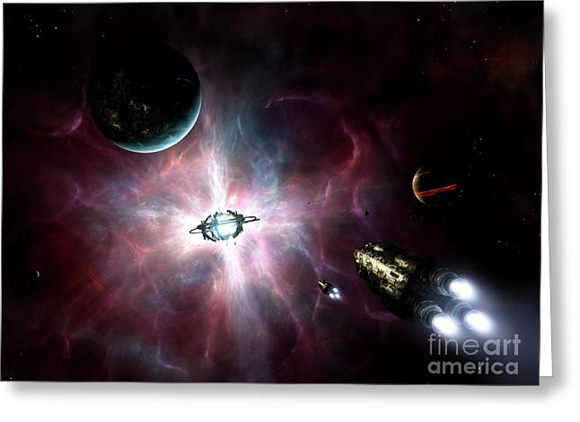An Enormous Stellar Power Greeting Card by Brian Christensen