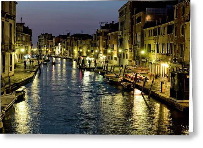 Venetian Canals Greeting Cards - An Evening in Venice Greeting Card by Michelle Sheppard