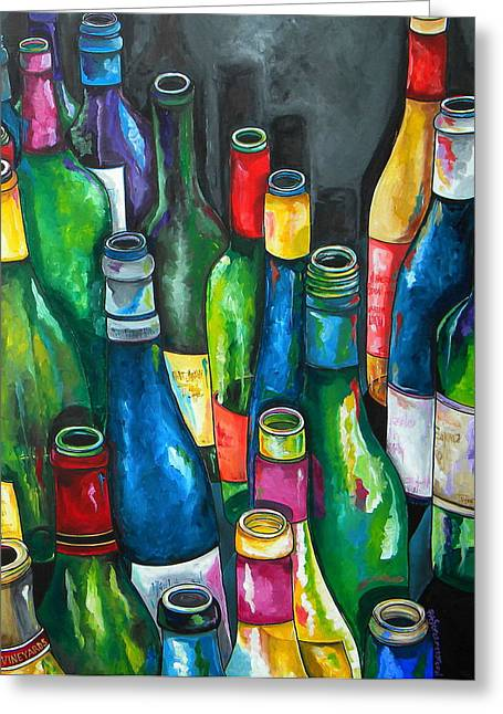 Napa Paintings Greeting Cards - An Evening With Friends Greeting Card by Patti Schermerhorn