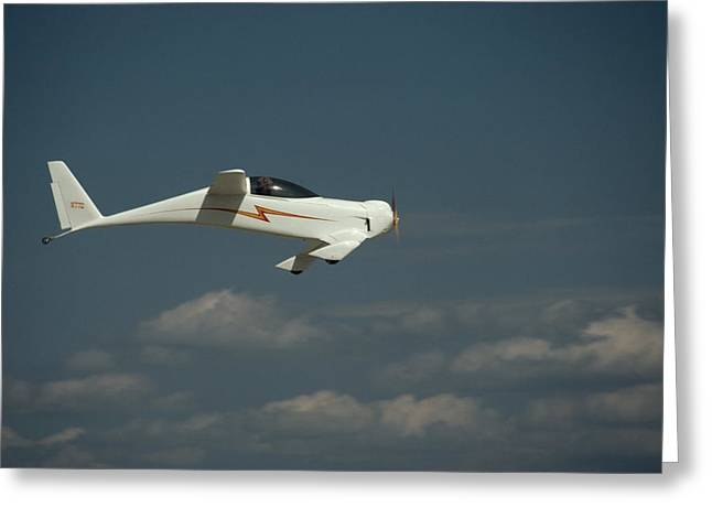 Monoplanes Greeting Cards - An Experimental Aircraft, The Quickie Greeting Card by Micheal E. Long