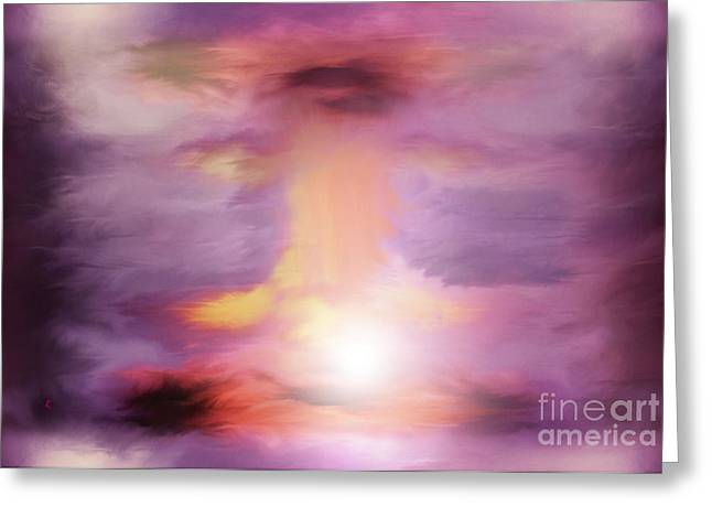 Abstract Expressionist Digital Greeting Cards - An Explosive Moment Greeting Card by John Krakora
