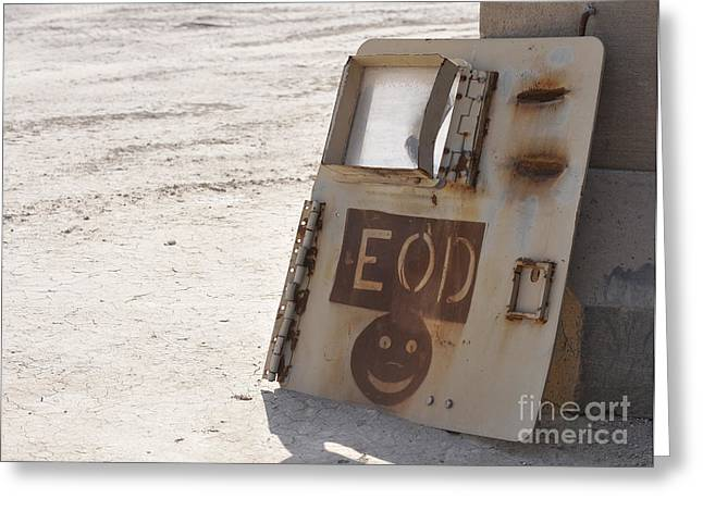 Iraq Photographs Greeting Cards - An Explosive Ordnance Disposal Logo Greeting Card by Stocktrek Images