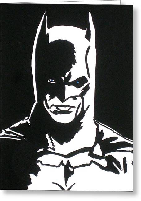 Gotham City Drawings Greeting Cards - An Eye To See Batman Greeting Card by Robert Margetts
