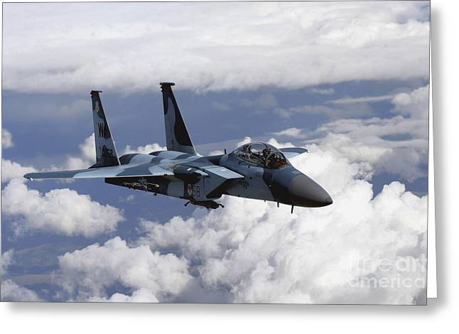 An F-15c Aggressor Flies Greeting Card by Stocktrek Images