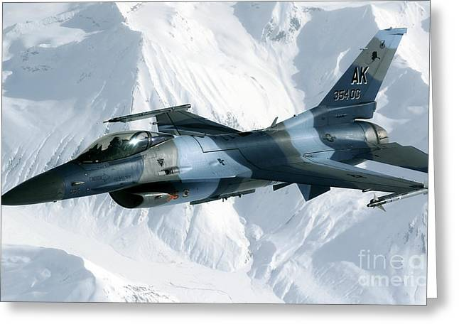 Aggressor Greeting Cards - An F-16 Aggressor Disconnectsfrom Greeting Card by Stocktrek Images