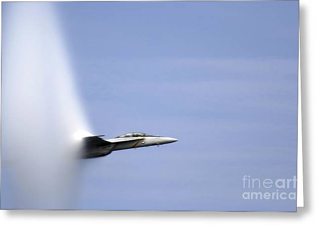 F-18 Greeting Cards - An Fa-18e Super Hornet Reaches Greeting Card by Stocktrek Images
