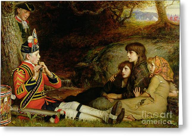 Piping Greeting Cards - An Idyll  Greeting Card by Sir John Everett Millais