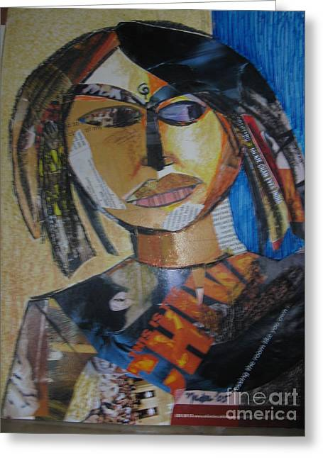 Sell Art Online Greeting Cards - An Indian Girl Greeting Card by Nedunseralathan R