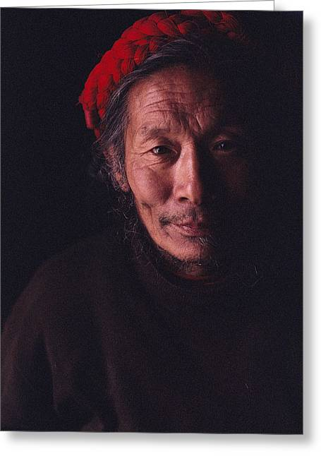 Sichuan Province Greeting Cards - An Informal Portrait Of A Monk Greeting Card by David Edwards