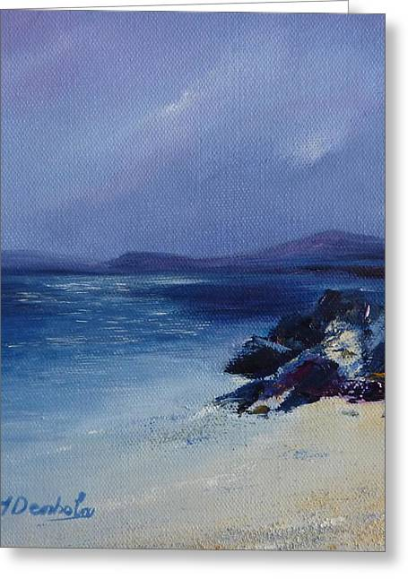 An Iona Beach Greeting Card by Margaret Denholm