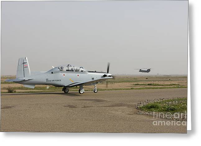 Cob Speicher Greeting Cards - An Iraqi Air Force T-6 Texan Trainer Greeting Card by Terry Moore