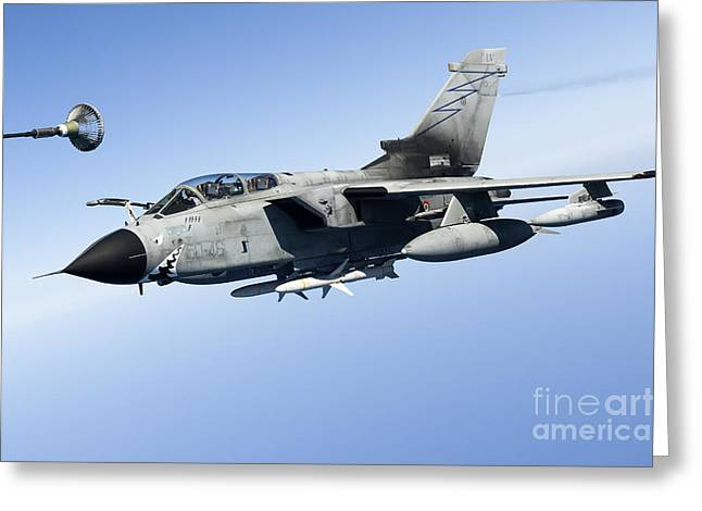 Cooperation Greeting Cards - An Italian Air Force Tornado Ids Greeting Card by Gert Kromhout