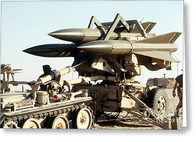 Anti Greeting Cards - An Mim-23b Hawk Surface-to-air Missile Greeting Card by Stocktrek Images