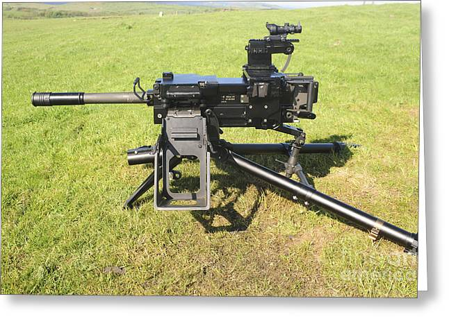 40mm Greeting Cards - An Mk19 40mm Machine Gun Greeting Card by Andrew Chittock